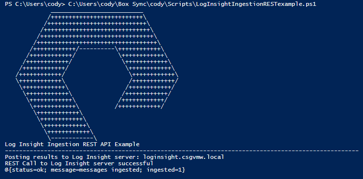 Using PowerShell with the VMware Log Insight REST API | Cody