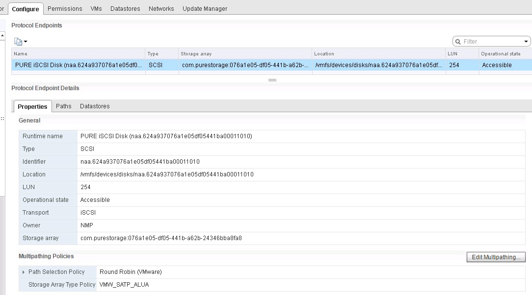 VVols VMware: vSphere Virtual Volumes on the FlashArray