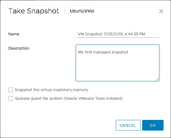 Virtual Volumes and Array Snapshots Part I: Managed