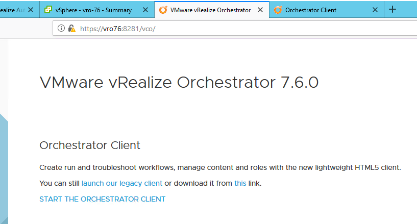 vRealize Orchestrator 7 6 is released! Updated Web Client
